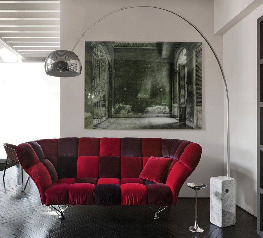 33 CUSCINI Three-Seat Sofa by Paolo Rizzatto for Driade - DUPLEX DESIGN