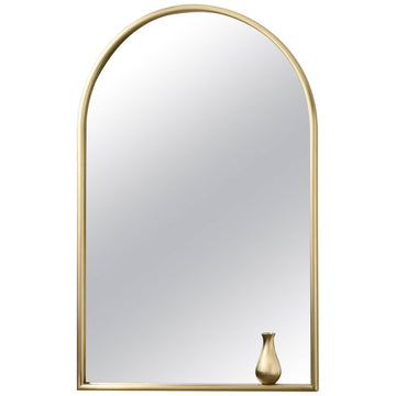 PORTRAIT With Little Vase Brass Mirror by Elisa Giovannoni for Ghidini 1961
