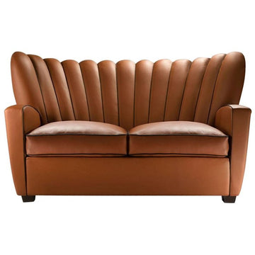 ZARINA DIVANO Leather Two-Seat Sofa by Cesare Cassina for Adele C