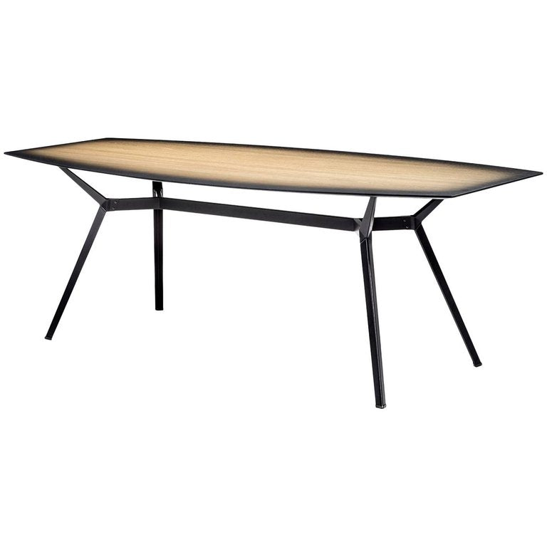PYLON GRADIENT Table in Wood and Steel by Moroso for Diesel Living
