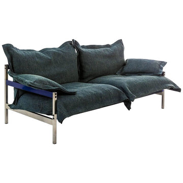 IRON MAIDEN Three-Seat Upholstered Steel Frame Sofa by Moroso for Diesel Living - DUPLEX DESIGN