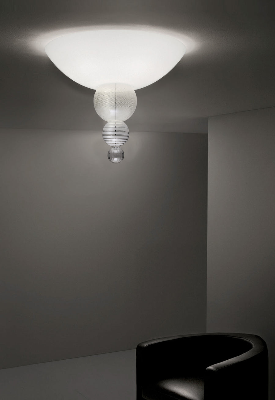 ABACO PLAFONIERA Ceiling Lamp by Monica Guggisberg and Philip Baldwin for Venini - DUPLEX DESIGN