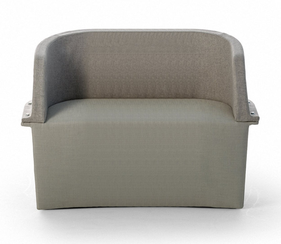 ASSEMBLY Two-Seat Sofa with Steel Frame and Bolts by Moroso for Diesel Living - DUPLEX DESIGN