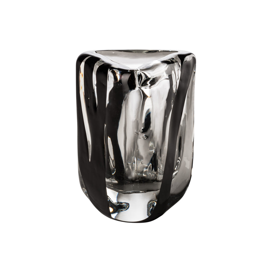 BLACK BELT TRIANGOLO Glass Vase by Peter Marino for Venini - DUPLEX DESIGN