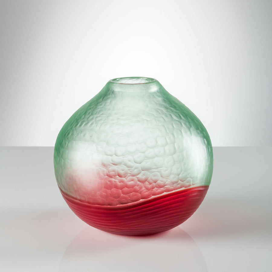 BATTUTO BICOLORE Glass Vase by Carlo Scarpa for Venini - DUPLEX DESIGN