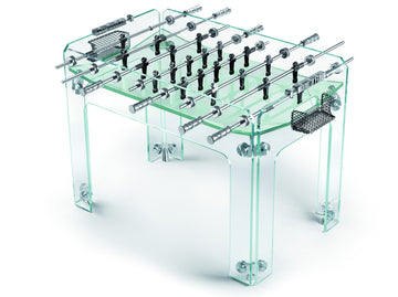 CRISTALLINO Crystal Foosball Transparent Table by Adriano Design for Teckell - DUPLEX DESIGN