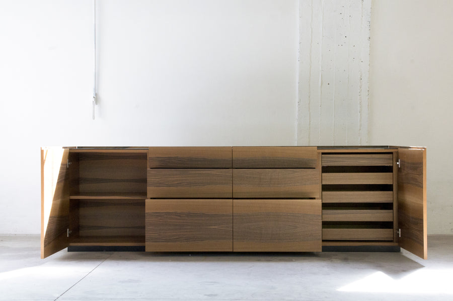 BROWN Side Cabinet by Stephane Lebrun for Dessie' - DUPLEX DESIGN