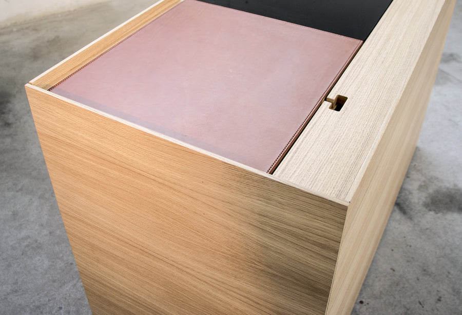 BROWN PC Unit Cabinet or Desk by Stephane Lebrun for Dessie' - DUPLEX DESIGN