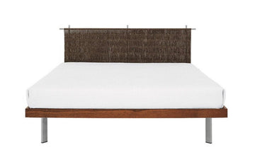EDWARD I Double Bed with Headboard by Antonia Astori for Driade - DUPLEX DESIGN