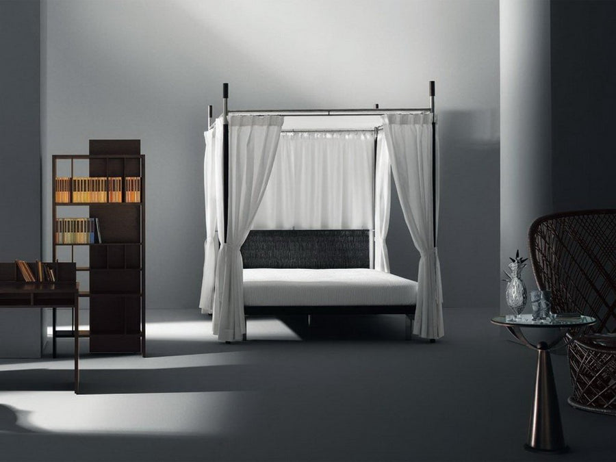 EDWARD II Double Canopy Bed with Headboard by Antonia Astori for Driade - DUPLEX DESIGN