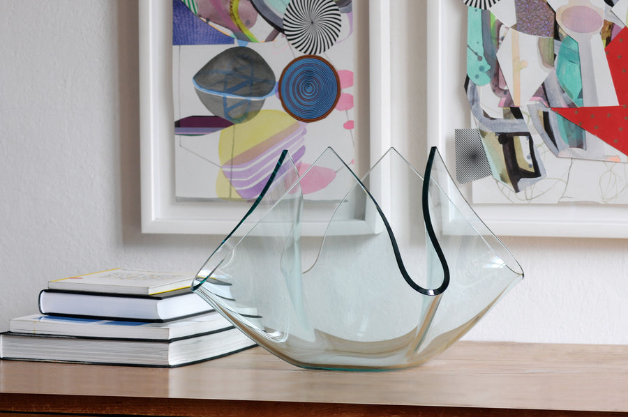 CARTOCCIO Q Glass Vase by Pietro Chiesa for Fontana Arte - DUPLEX DESIGN
