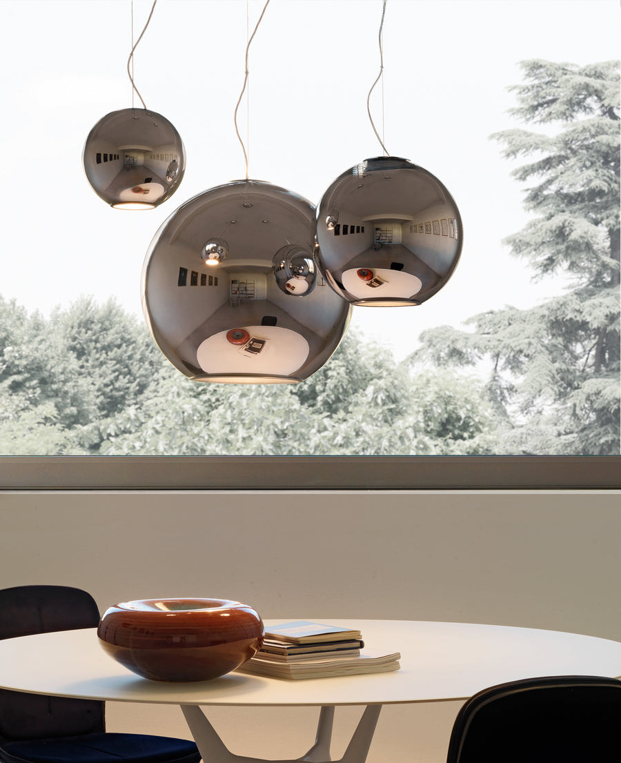 GLOBO DI LUCE Suspension Lamp by Roberto Menghi for Fontana Arte - DUPLEX DESIGN