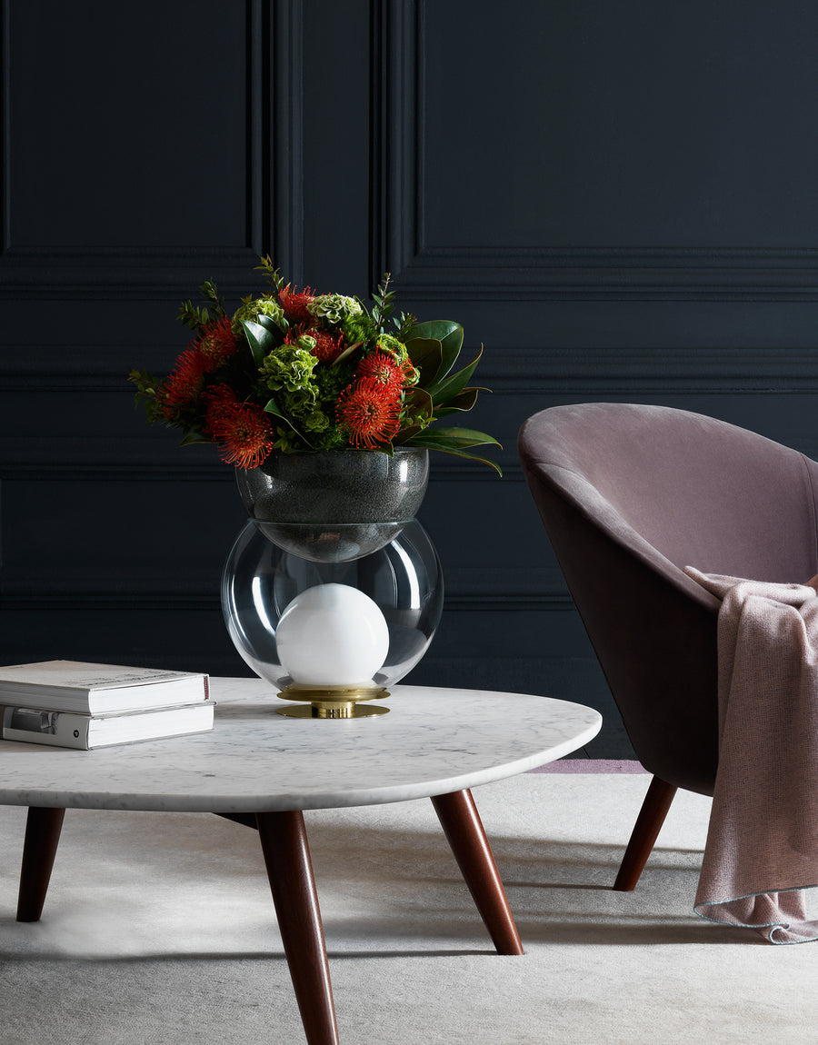 GIOVA Table Lamp and Flower Pot by Gae Aulenti for Fontana Arte - DUPLEX DESIGN