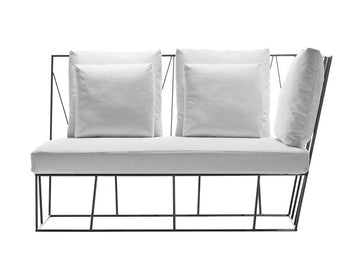 HERVE' Two-Seat Right / Left Terminal Sofa by Lievore Altherr Molina for Driade - DUPLEX DESIGN