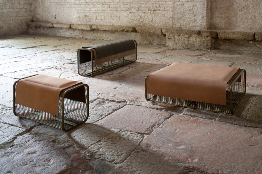 CABALLITO BLANCO PICCOLO Bench by Nestor Perkal for Oscar Maschera - DUPLEX DESIGN