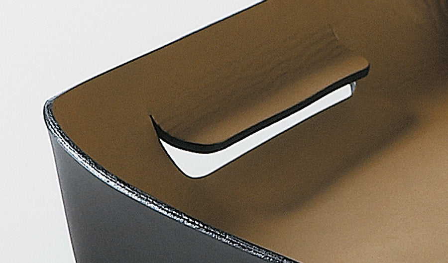 ITALO Leather In & Out Tray by Claude Bouchard for Oscar Maschera - DUPLEX DESIGN
