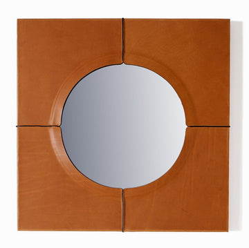 JUST ANOTHER DAY Leather Mirror by Nestor Perkal for Oscar Maschera - DUPLEX DESIGN