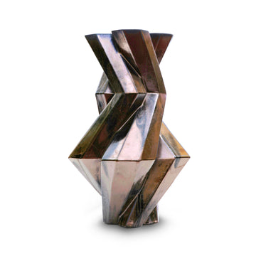 FORTRESS CASTLE BRONZE CERAMIC VASE by Lara Bohinc - DUPLEX DESIGN