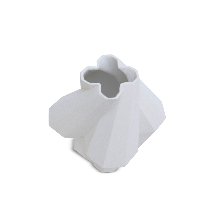 FORTRESS PILLAR WHITE CERAMIC VASE by Lara Bohinc - DUPLEX DESIGN