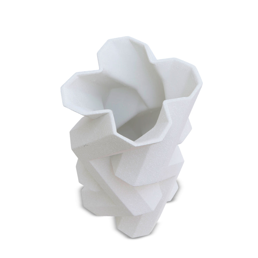 FORTRESS TOWER WHITE CERAMIC VASE by Lara Bohinc - DUPLEX DESIGN