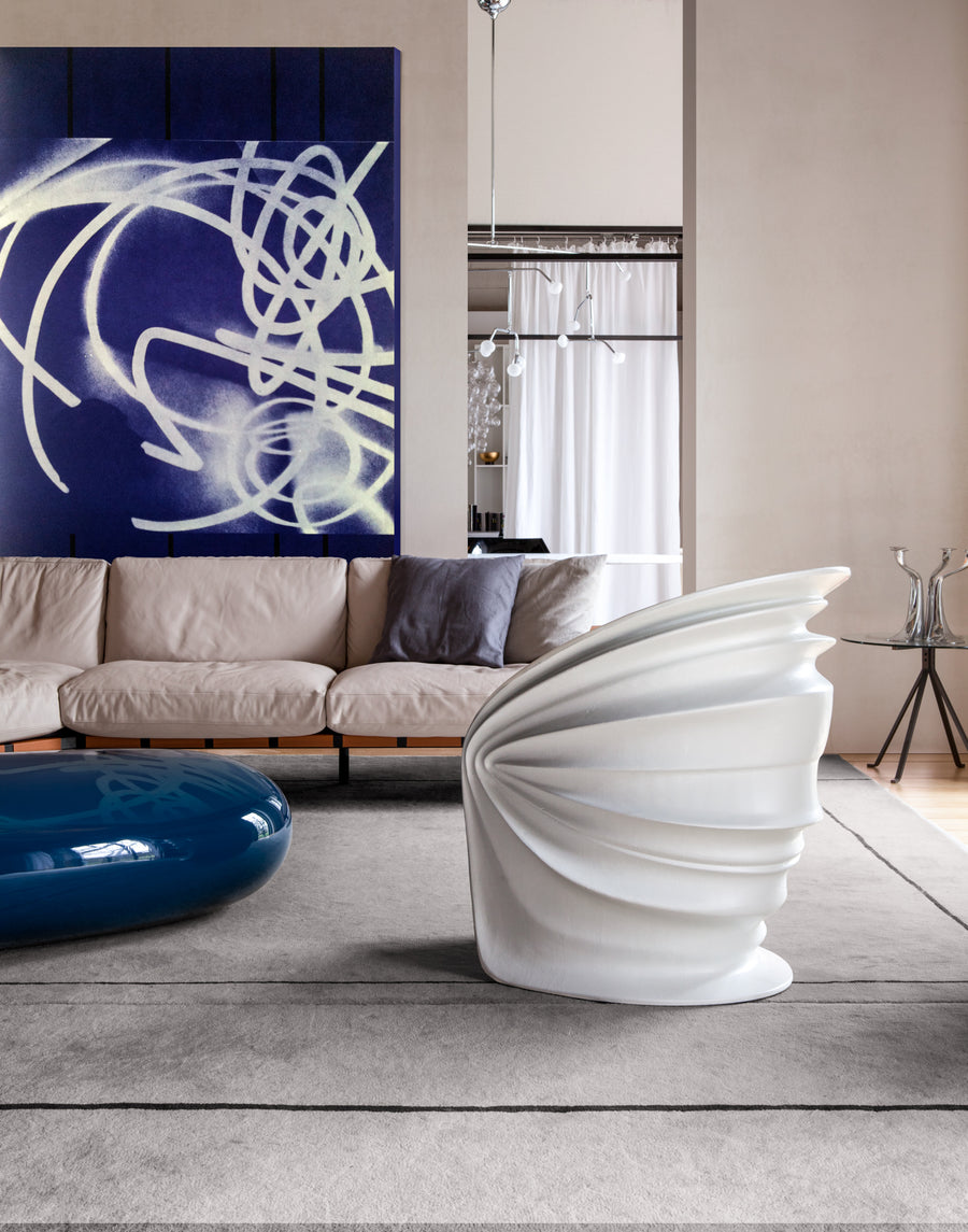 MODESTY VEILED Armchair by Italo Rota for Driade - DUPLEX DESIGN