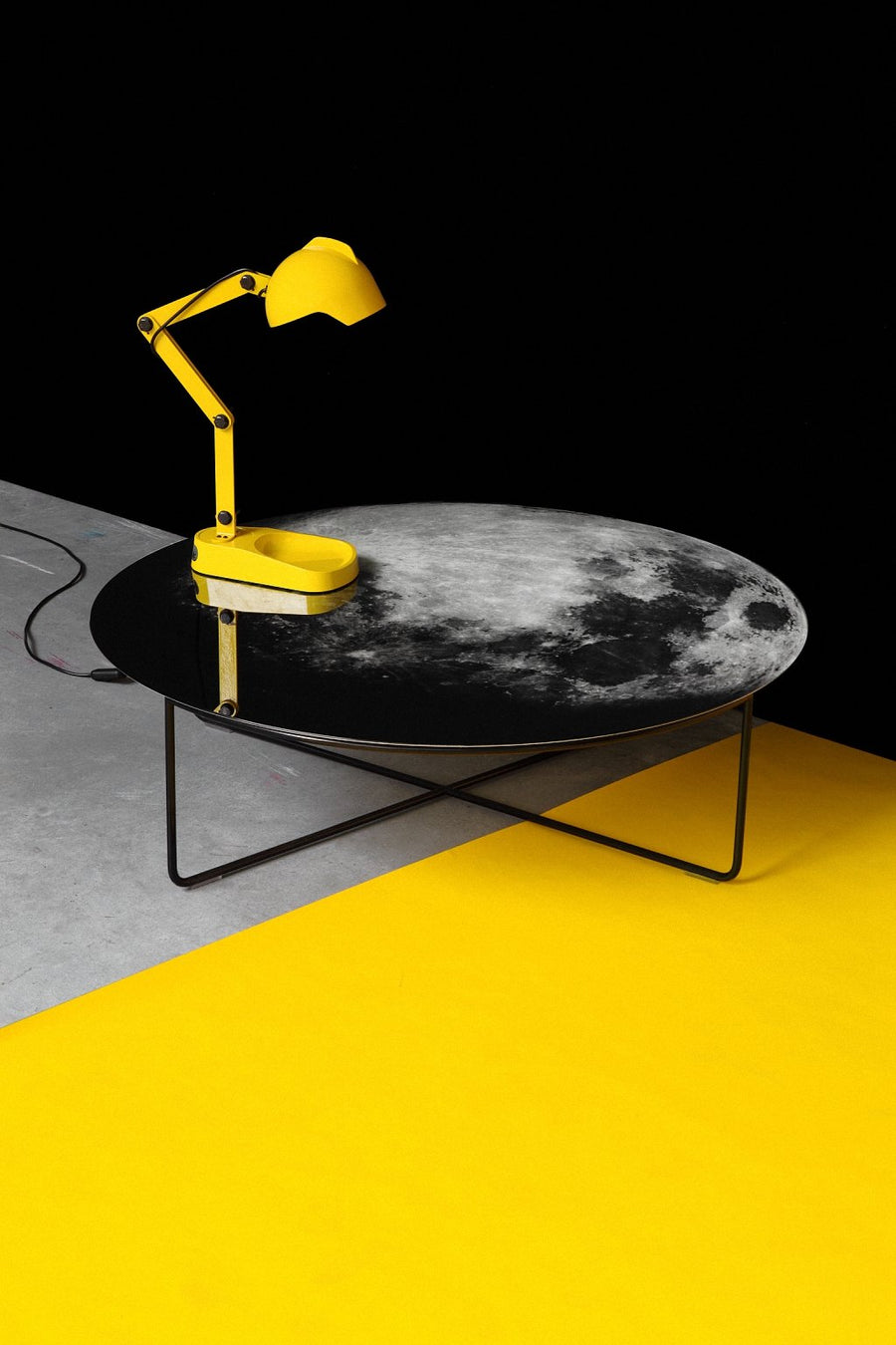MY MOON MY MIRROR Printed Glass Mirror Coffee Table by Moroso for Diesel Living - DUPLEX DESIGN