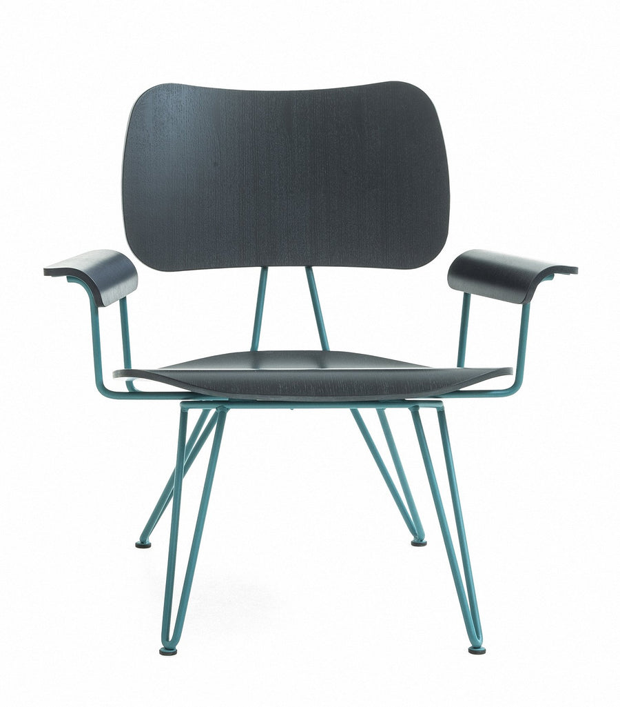 OVERDYED Lounge Chair in Birchwood and Steel by Moroso for Diesel Living - DUPLEX DESIGN