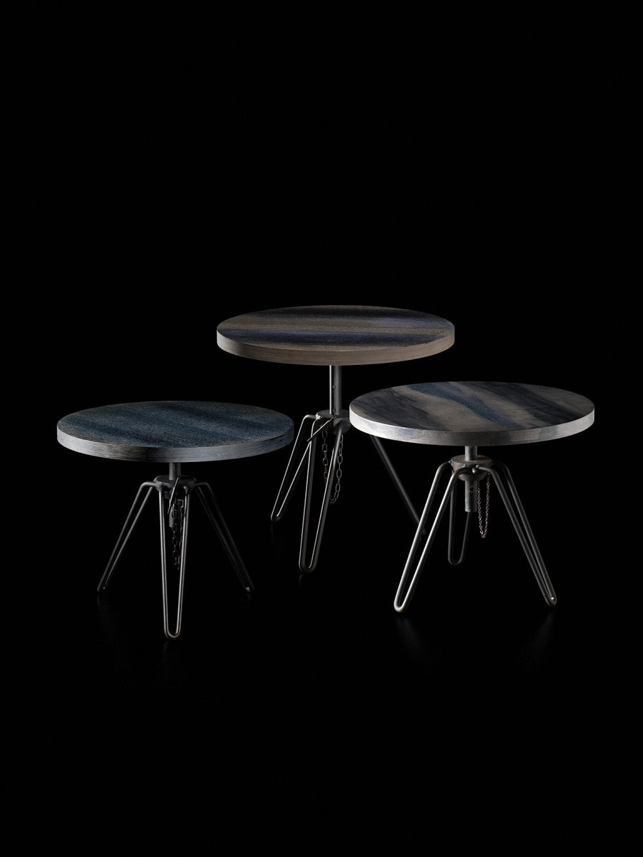 OVERDYED Round Adjustable Side Table by Moroso for Diesel Living - DUPLEX DESIGN