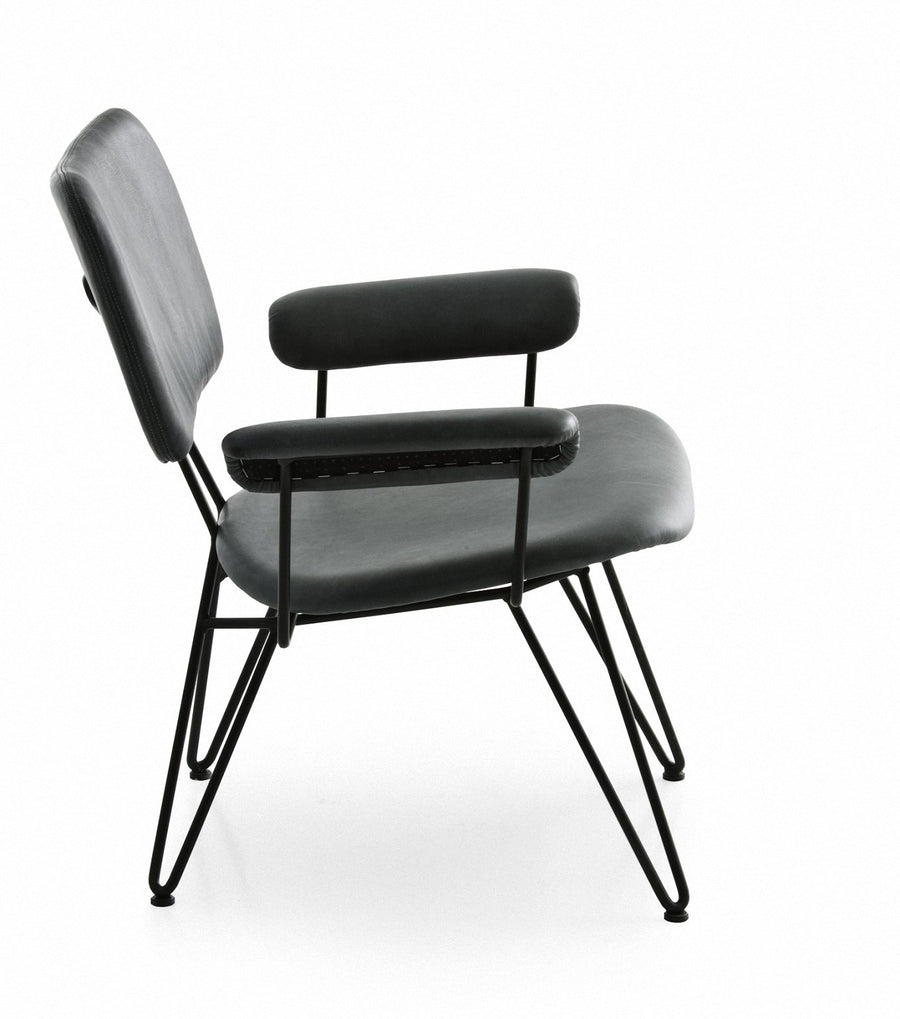 OVERDYED RELOADED Lounge Chair in Birchwood and Steel by Moroso for Diesel Living - DUPLEX DESIGN