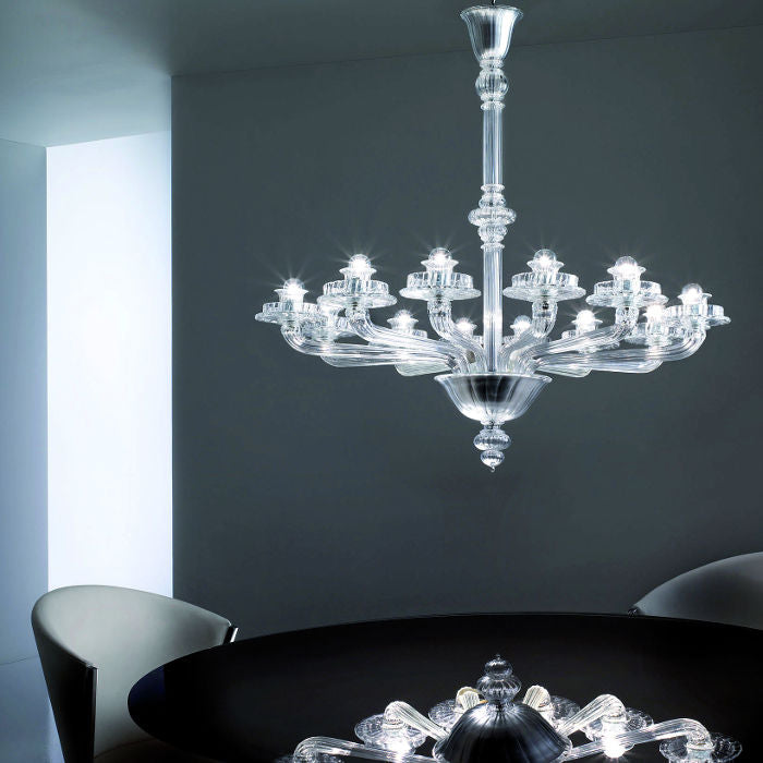 PORPORA Glass Chandelier by Venini