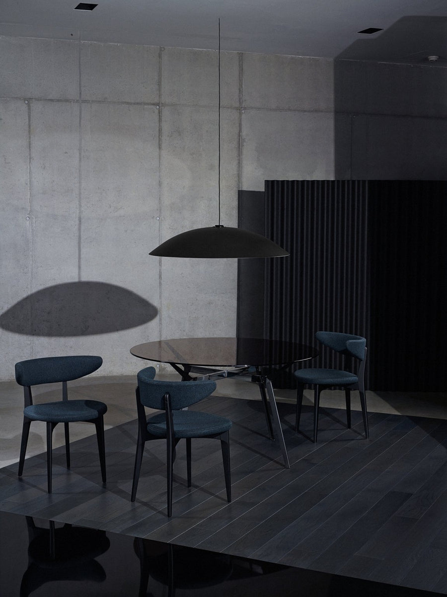 PYLON Round Table with Bronze Glass and Steel by Moroso for Diesel Living