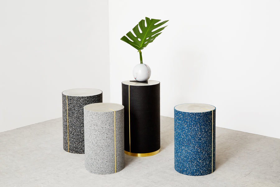 RUBBER CYL Side Tables by Arielle Assouline-Lichten for Slash Objects