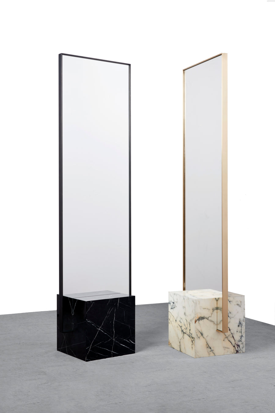 COEXIST Standing Mirror by Arielle Assouline-Lichten for Slash Objects - DUPLEX DESIGN