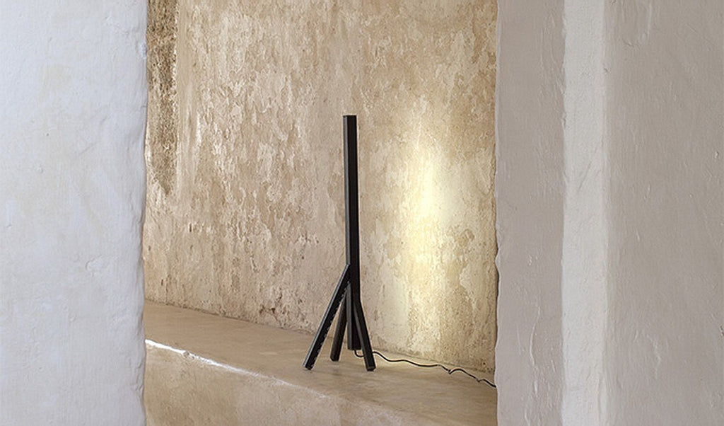 STECCOLINO Leather and Aluminum Table Lamp by Nestor Perkal for Oscar Maschera