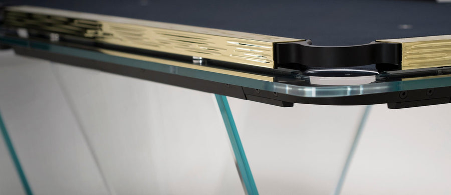 T1.2 Crystal Pool Table with Gold Plated Covers by Marc Sadler for Teckell