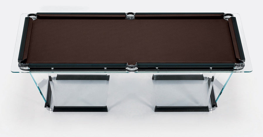 Admirable T1 2 Crystal Pool Table With Leather Or Walnut Covers By Marc Sadler For Teckell Interior Design Ideas Ghosoteloinfo