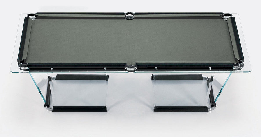 Fine T1 2 Crystal Pool Table With Leather Or Walnut Covers By Marc Sadler For Teckell Interior Design Ideas Ghosoteloinfo