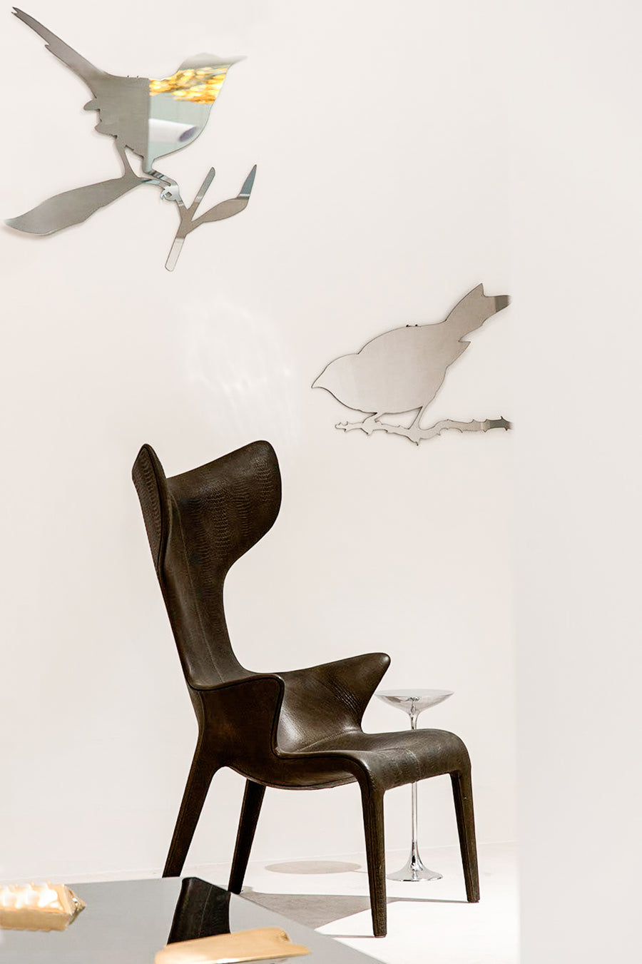 TAYLOR BIRD Mirror by Ed Annink for Driade
