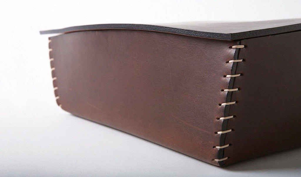 TOM Leather Box by Claude Bouchard for Oscar Maschera