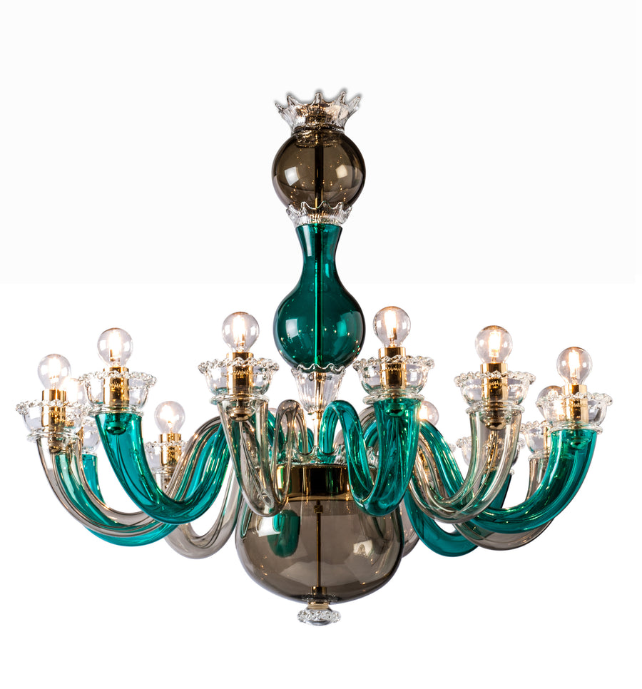 99.81 GIO PONTI Chandelier by Gio Ponti for Venini - DUPLEX DESIGN