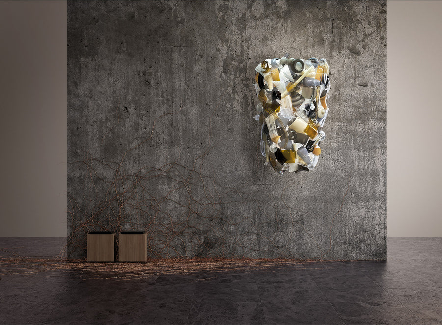 FRAGMENTS APPLIQUE Giant Wall Lamp by Fernando & Humberto Campana for Venini - DUPLEX DESIGN