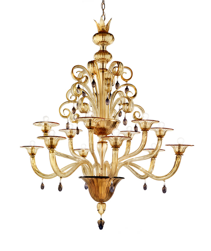 VITTORIALE Chandelier by Napoleone Martinuzzi for Venini