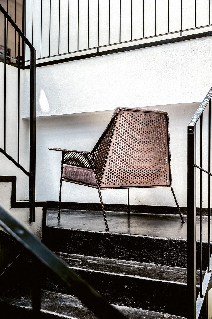 WORK IS OVER Lounge Chair in Varnished Steel by Moroso for Diesel Living
