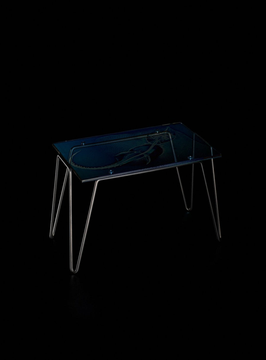 XRAYDIO 1 RAZZA Raw Steel Side Table by Moroso for Diesel Living