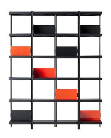 ZIGZAG High Steel Bookcase by Konstantin Grcic for Driade