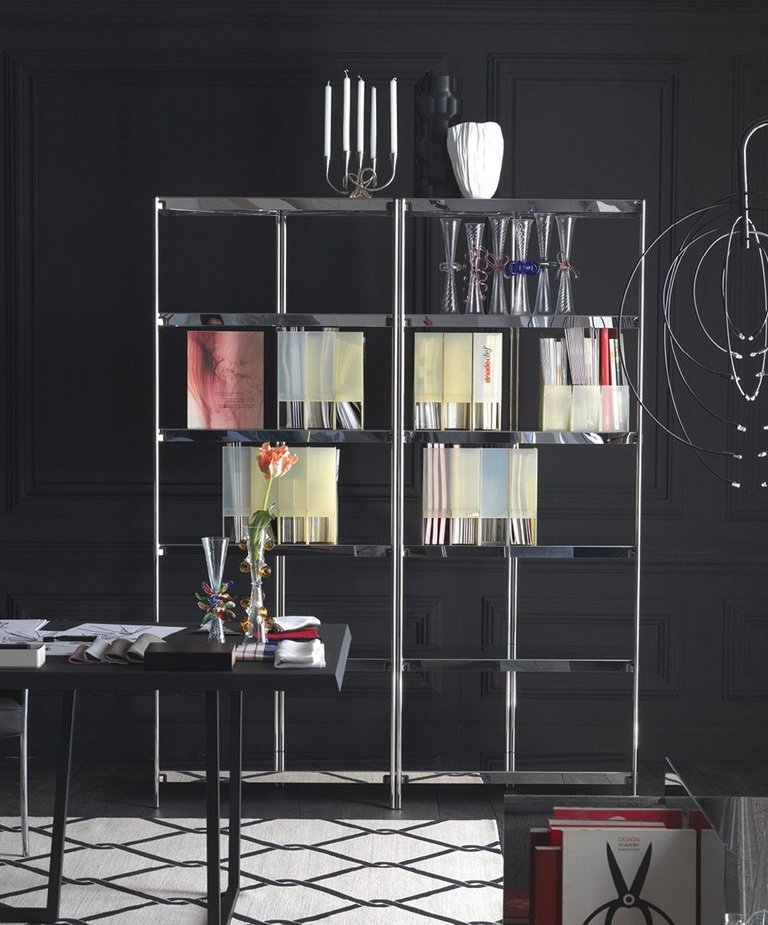 ZIGZAG High Polished Steel with Mirror Finish Bookcase by Konstantin Grcic for Driade