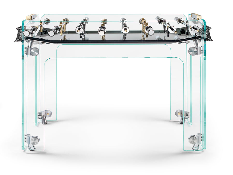 CRISTALLINO Gold Limited Edition Foosball Table with Black Field by Teckell - DUPLEX DESIGN
