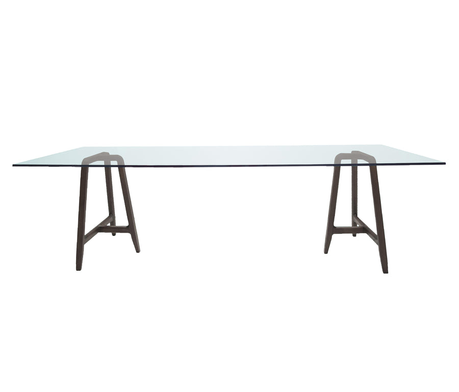 EASEL Table with Glass Top by L+R Palomba for Driade - DUPLEX DESIGN