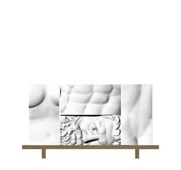 ERCOLE E AFRODITE Composition 3 Cabinet by Driade Lab for Driade - DUPLEX DESIGN