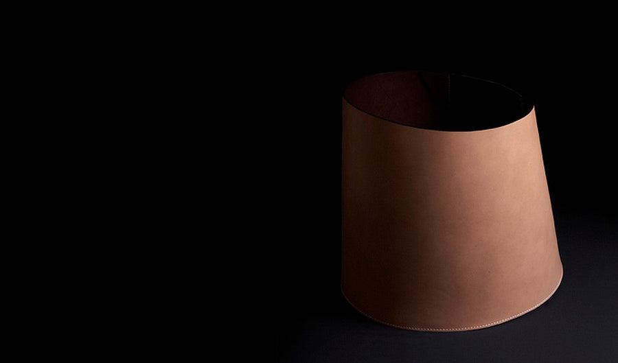 MARCEL Leather Basket by Claude Bouchard for Oscar Maschera - DUPLEX DESIGN